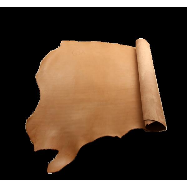 約魯牛雕刻皮  SIDE 3.5/4.0mm 自然棕色