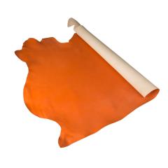 夫烈區噴色軟Q植鞣皮 橘色 特級 SIDE 2.0/2.4mm