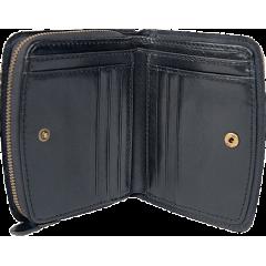 艾格拉拉鏈短革 黑 ITALY 19.5x12.5cm