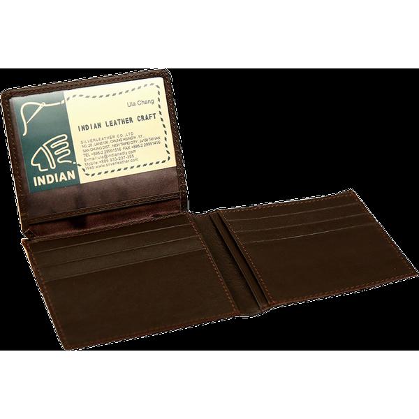 信用證件短夾 咖 21.5x9cm