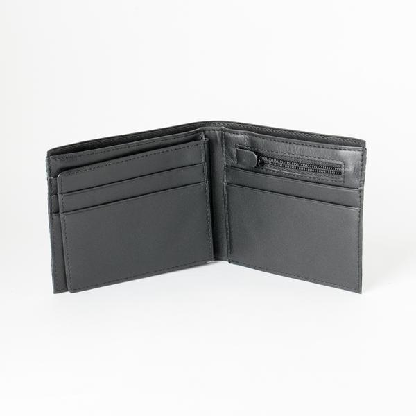 拉鏈證件短夾 黑 21.5x9cm