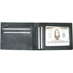 零錢短夾 黑 22x8.5cm