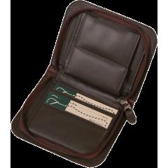 拉鏈零錢短夾包 咖 20.5x13cm