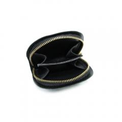 馬蹄型拉鍊小錢包內裡 黑 6x8cm