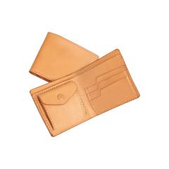 法式手縫零錢短夾 本色 20x10cm