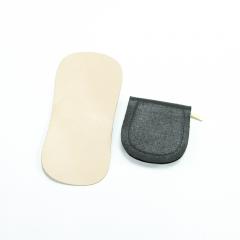 馬蹄型拉鍊小錢包材料包 黑 6x8cm