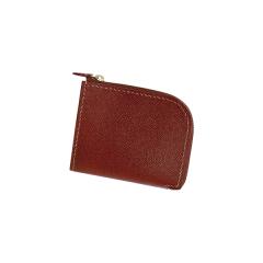 印地安手縫L型錢包 淺茶菱格紋 11x9cm 售完為止