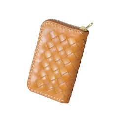 編織拉鏈零錢包 本色10.5x6.5x1.8cm