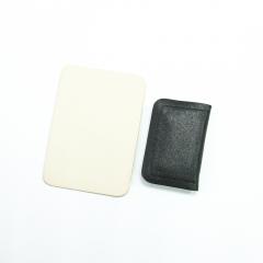 長方形拉鍊錢包材料包 焦茶 11x7.5cm