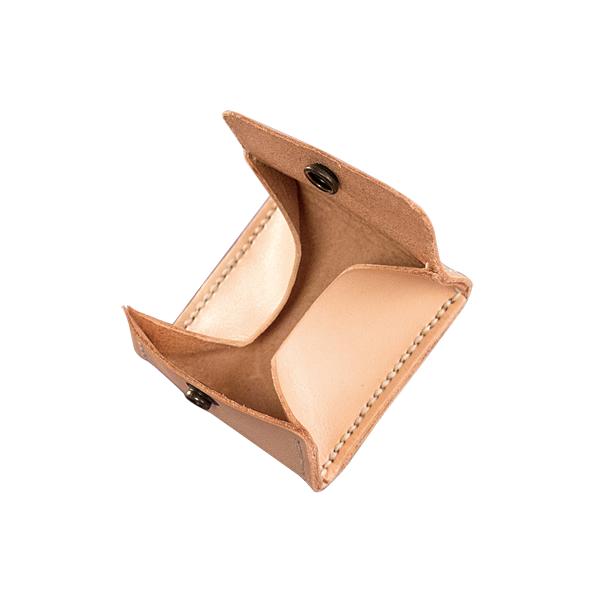 極簡風手縫方型零錢包 本色 6.5x6.5cm