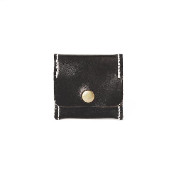 極簡風手縫方型零錢包 黑 6.5x6.5cm