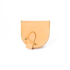 手縫馬蹄錢包 棕 15x7.5cm