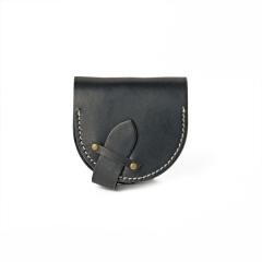手縫馬蹄錢包 黑 15x7.5cm