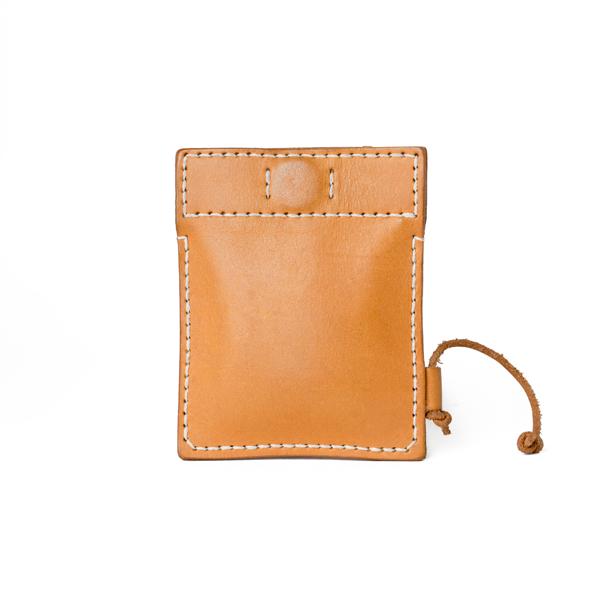 極簡風手縫鑰匙錢包 棕 10x8cm