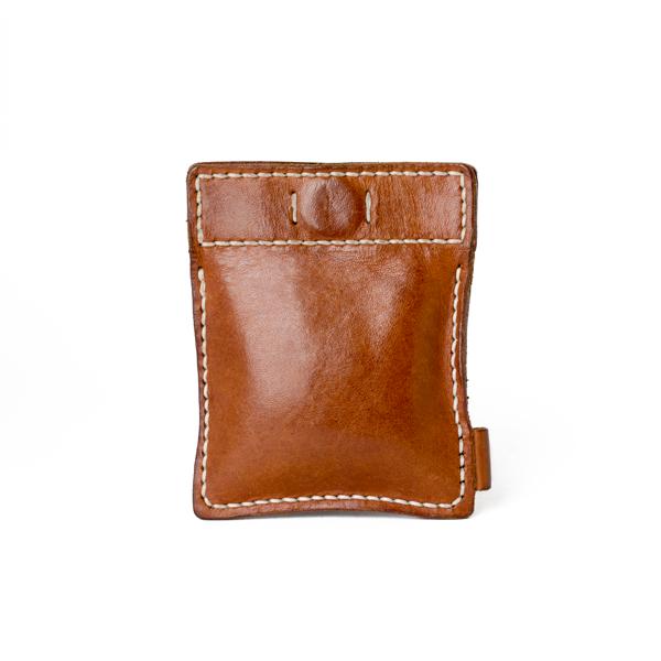 極簡風手縫鑰匙錢包 咖啡 10x8cm