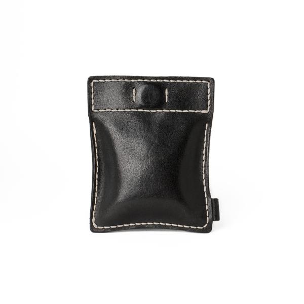 極簡風手縫鑰匙錢包 黑 10x8cm