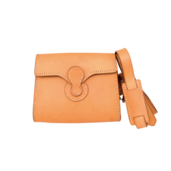 INDIAN Tan Flap Bag (18x9.5cm)