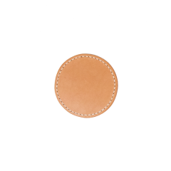 Round Leather Beverage Coaster (8X8cm 4 pcs/pk)