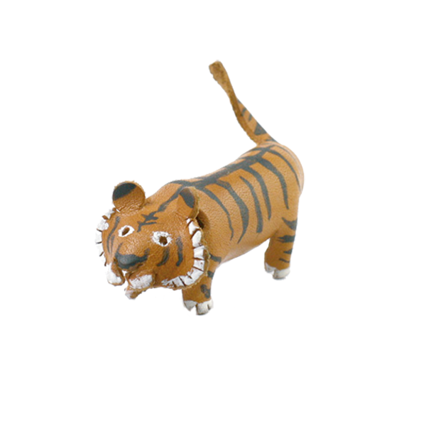 皮塑動物 虎 6.3x5.3cm 1入