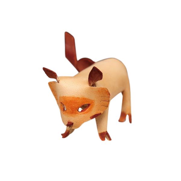 皮塑動物 狸貓 6.9x6.3cm 1入