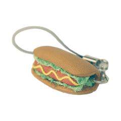 日製皮飾 熱狗堡 3.7x1.5x1.3cm-售完為止