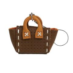 售完為止-日製吊飾 迷你手提包 咖啡 5.5x4x2cm