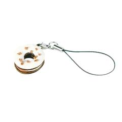 售完為止-日製吊飾 白甜甜圈 2.3x2.3x1.5cm