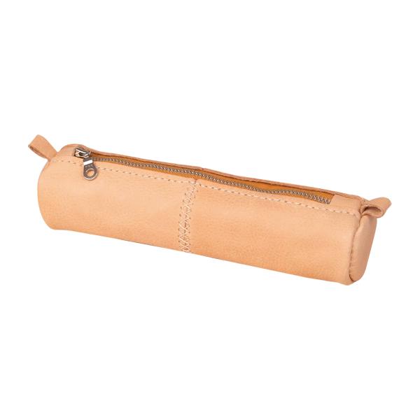印地安手縫圓形筆袋 21x5cm