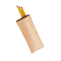 極簡風手縫筆袋 本色 20x7cm