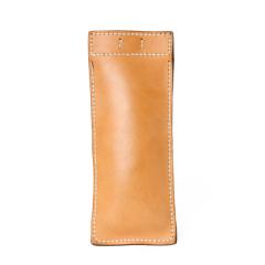 極簡風手縫筆袋 棕 20x8cm