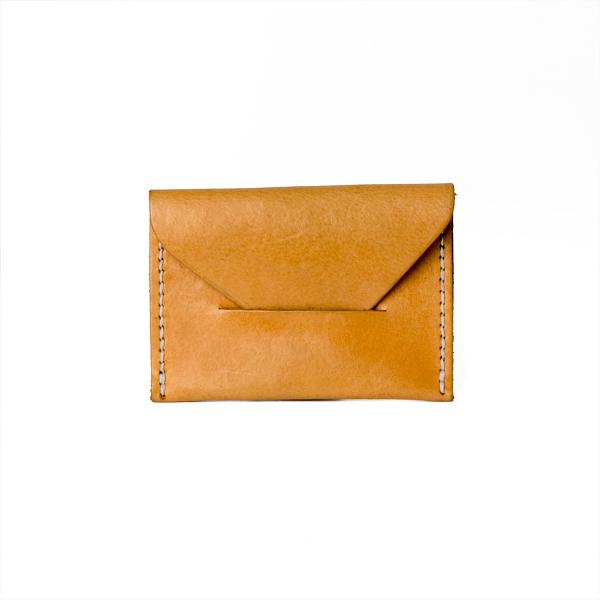 極簡風手縫S&D名片夾 棕 8x11cm