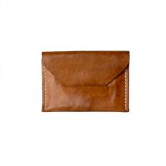 極簡風手縫S&D名片夾 咖啡 11x8cm