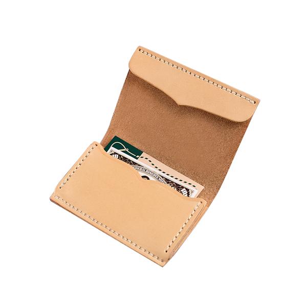 極簡風手縫雙層名片夾 本色 11.2x7.9cm