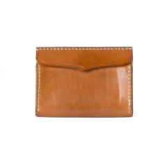 極簡風手縫雙層名片夾 棕 11.2x7.9cm