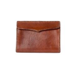 極簡風手縫雙層名片夾 咖啡 11.2x7.9cm