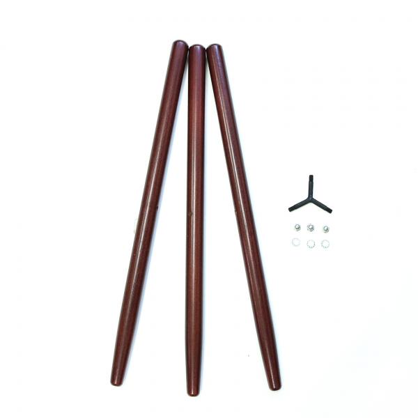 三腳椅木架 含鎖架.螺絲 咖啡色 不二價