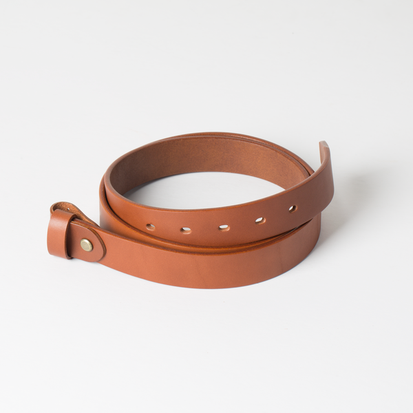 歐革皮帶組 棕 3.0x120cm 含帶耳