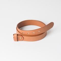 歐革皮帶組 淺茶 3.0x120cm 含帶耳