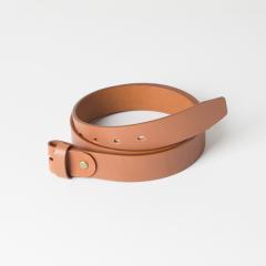 歐革皮帶組 淺茶 3.5x110cm 含帶耳