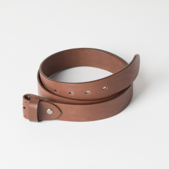 European Leather Belt Kit Dark-Brown (3.5X120cm) Include Belt Loop