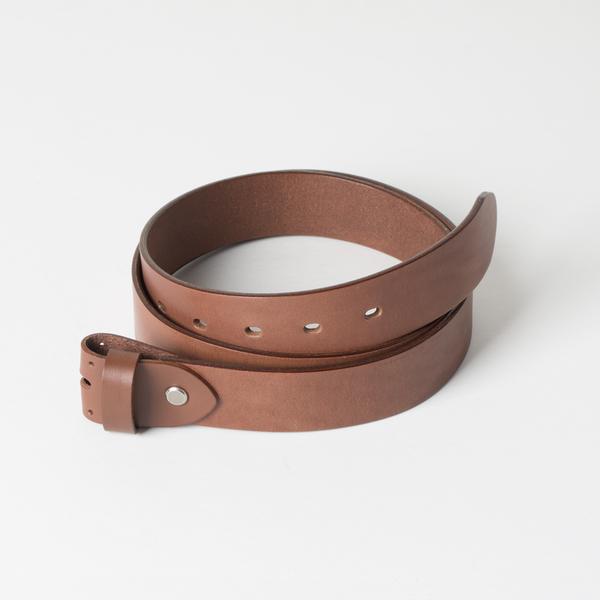 歐革皮帶組 咖啡 3.5x120cm 含帶耳