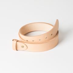 歐革皮帶組 本色 4.0x120cm 含帶耳