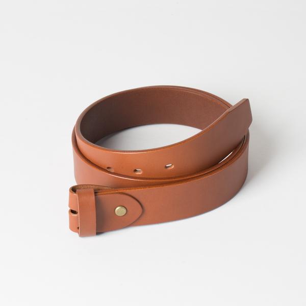 歐革皮帶組 棕 4.0x120cm 含帶耳
