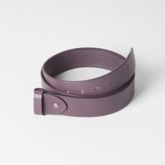 歐革皮帶組 咖啡 4.0x120cm 含帶耳