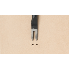 Japanese C Diamond Hole Chisel: Width 2.0mm / Pitch 4mm (2 prongs)