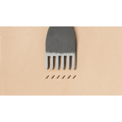 Japanese E European Style Chisel: Width 1.2mm / Pitch 3mm (6 prongs)