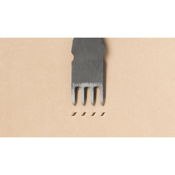 Japanese E European Style Chisel: Width 1.2mm / Pitch 4mm (4 prongs)