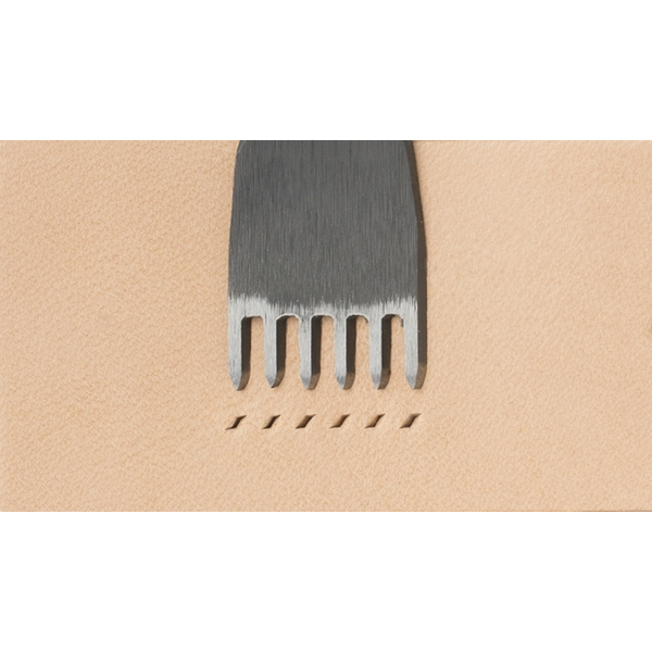Japanese E European Style Chisel: Width 1.2mm / Pitch 4mm (6 prongs)