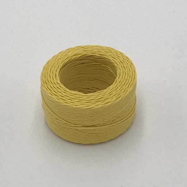 印地安手縫麻線捲 鵝黃色 含蠟 中細 0.5mmX35m