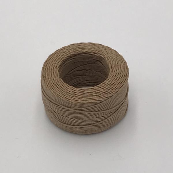 印地安手縫麻線捲 卡其色 含蠟 中細 0.5mmX35m